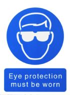 House Nameplate Co Eye Protection Must Be Worn - 15x20cm